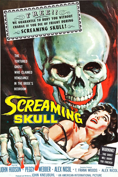 f12 the screaming skull 1950s horror b movie poster a3