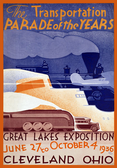Tr39 Vintage 1930 S American Great Lakes Travel Poster A1